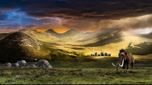 mamut v přírodě