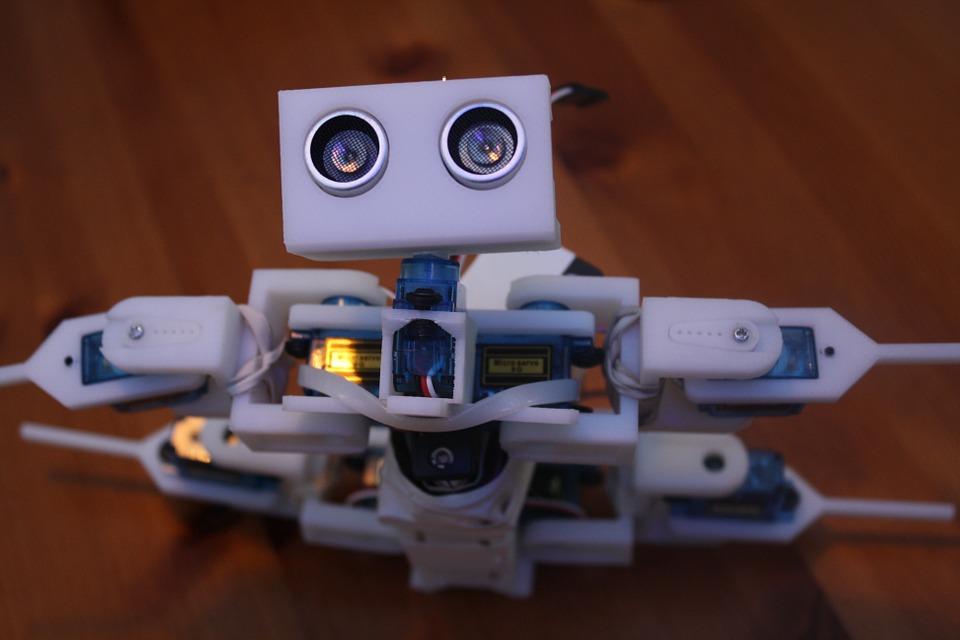 robot vyrobený tiskárnou